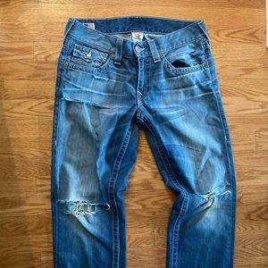 True Religion distressed jeans waist - 32